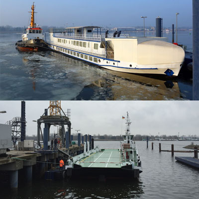 "Research Vessel ""Lichtenberg"" and the Ferry ""Breitling"" left our Shipyard"