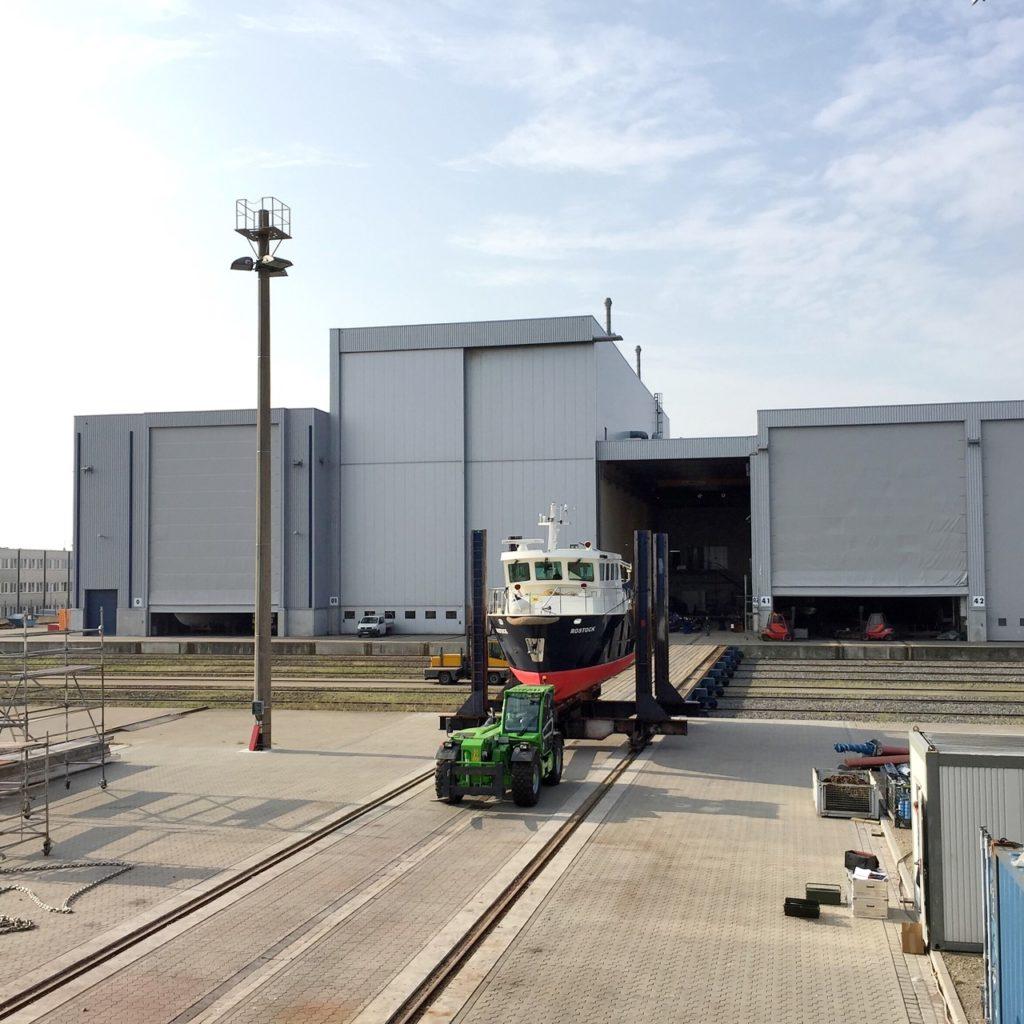 Kapazitätserweiterung auf der Werft