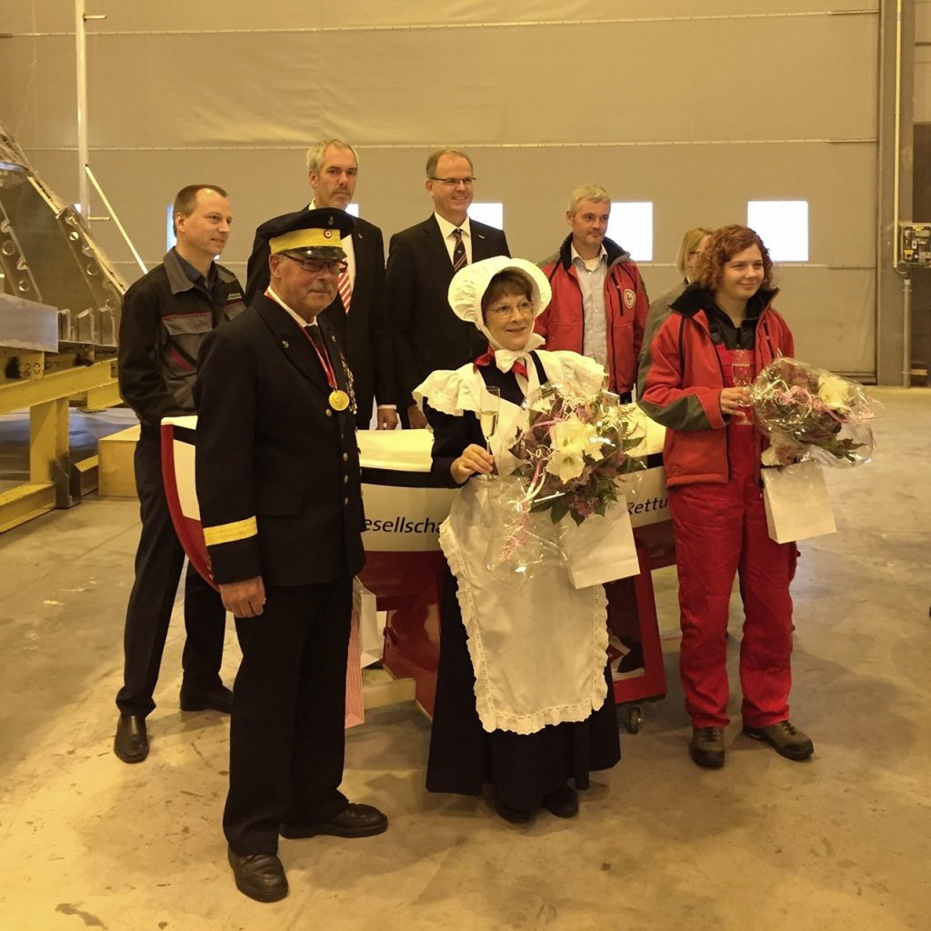 First double keel laying ceremony at TAMSEN MARITIM