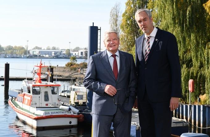 Altbundespräsident Dr. Joachim Gauck besuchte die Werft
