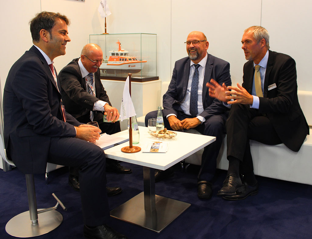 "From September 9th in Hamburg to 12th 2014 TAMSEN MARITIM represented itself at the ""SMM"""